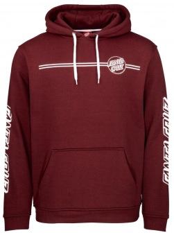 Santa Cruz hoodie opus dot stripe maroon unisex