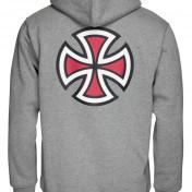 Independent hoodie med luva barcross grå unisex