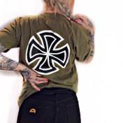 Independent Tshirt grön barcross unisex