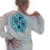 Independent Tjocktröja grå med blå print  crew spectrum unisex