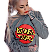 Santa Cruz hoodie utan luva grå  bas unisex