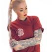 Independent Tshirt maroon meld unisex