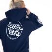 Santa Cruz hoodie opus dot stripe navy blue unisex