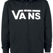 Vans hoodie med luva och dragkedja svart unisex