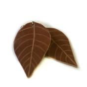 rebell örhänge konjakfärgade löv