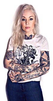 King Kerosin Tshirt queen dammodell troublemaker vit