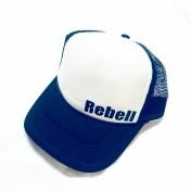 Rebell keps trucker . svart/vit rebell. unisex