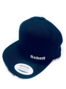 Rebell keps dark royalblue/vit text unisex