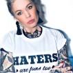 Rebell Tshirt haters vit unisex