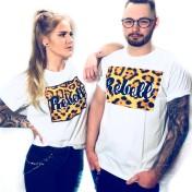 Rebell Tshirt Leopard svart text . Ny! Unisex