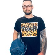 Rebell Tshirt Leopard svart nyhet unisex