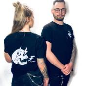 Rebell Tshirt  built not bought skull svart unisex