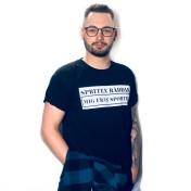 Rebell Tshirt  spriten räddar mig från sporten svart unisex