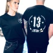 Rebell Tshirt  satan 13 svart unisex