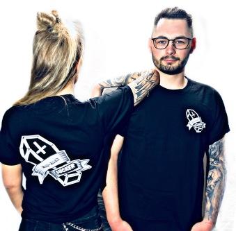 Rebell Tshirt badluck-sucker svart unisex