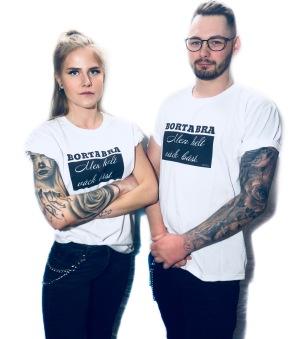 Rebell Tshirt borta bra vit unisec