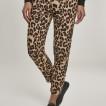 URBAN Classic leopard byxa i tunntmaterial