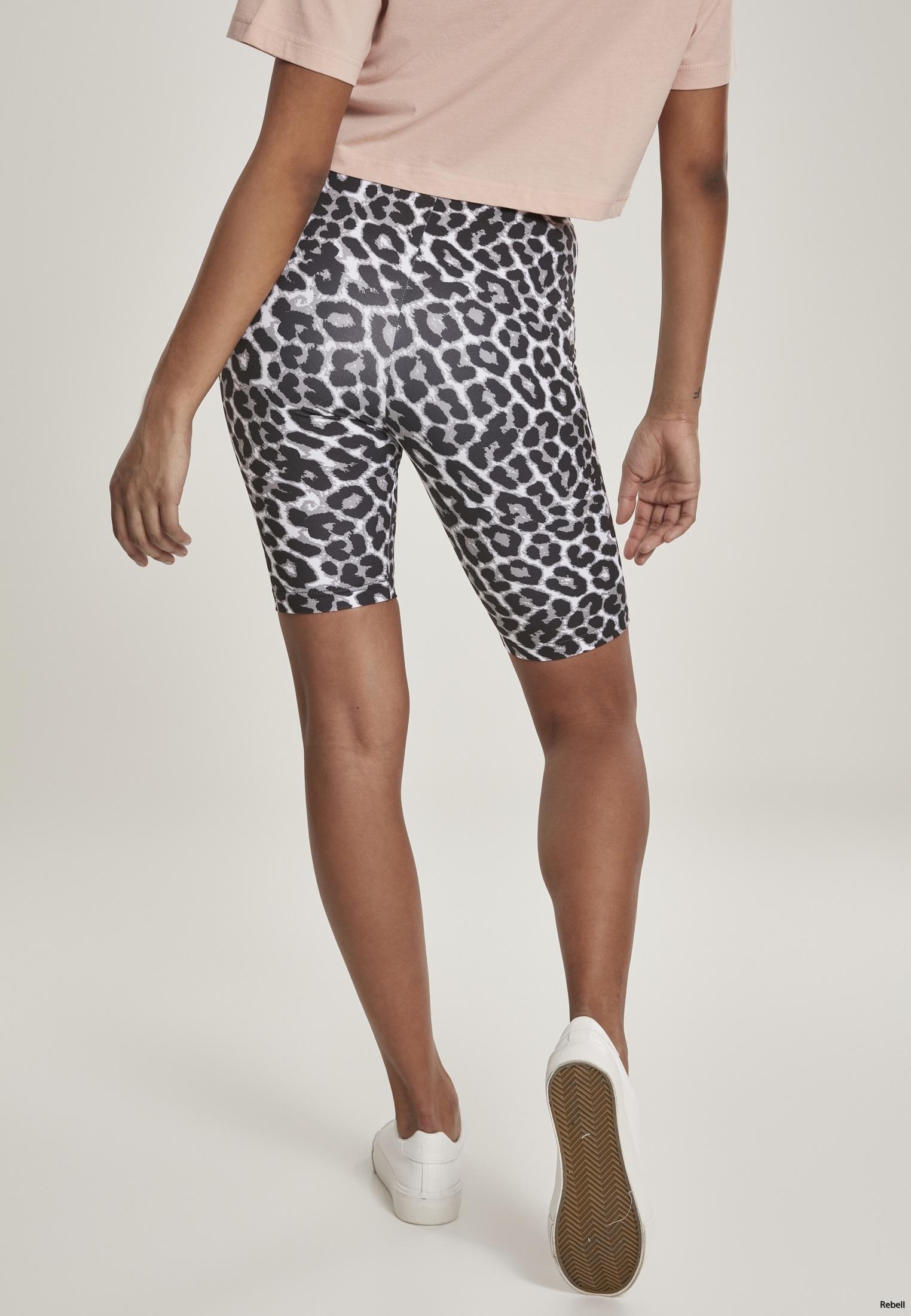 leopard sommar leggings cykelbyxa leoparbyxa byxor shorts