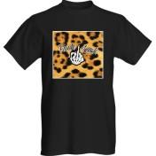 Rebell Tshirt fuck luck leopard svart unisex
