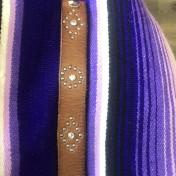 rebell smycke Läder armband STRASS