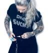 Rebell Tshirt disco sucks svart unisex