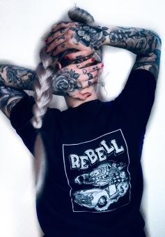 Rebell Tshirt pickuptruck ratstyle svart unisex