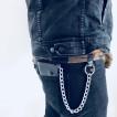 Rebell Läder Plånbok med kedja  svart