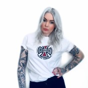 Independent Tshirt vit orginal bas unisex