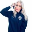 Independent big truck blå hoodie luva unisex