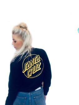 Santa Cruz  hoodie opus dot svart & gul unisex