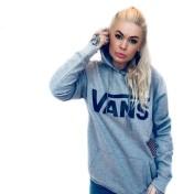 Vans hoodie med luva grå unisex