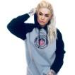 Independent hoodie blockade svart/grå unisex