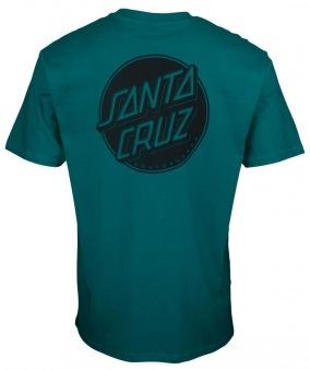 Santa Cruz  tshirt contra dot mono dark teal unisex
