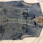 Junk Jeansväst crocker blå strlk L herr