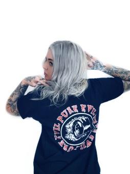 Rebell Tshirt pure Evil svart unisex
