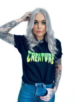 Creature Tshirt svart unisex