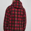 URBAN Classic Mönstrad polar fleece röd zip hoodie unisex