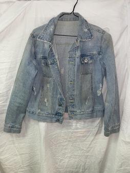 Junk jeansjacka ljus vintage stil dam S