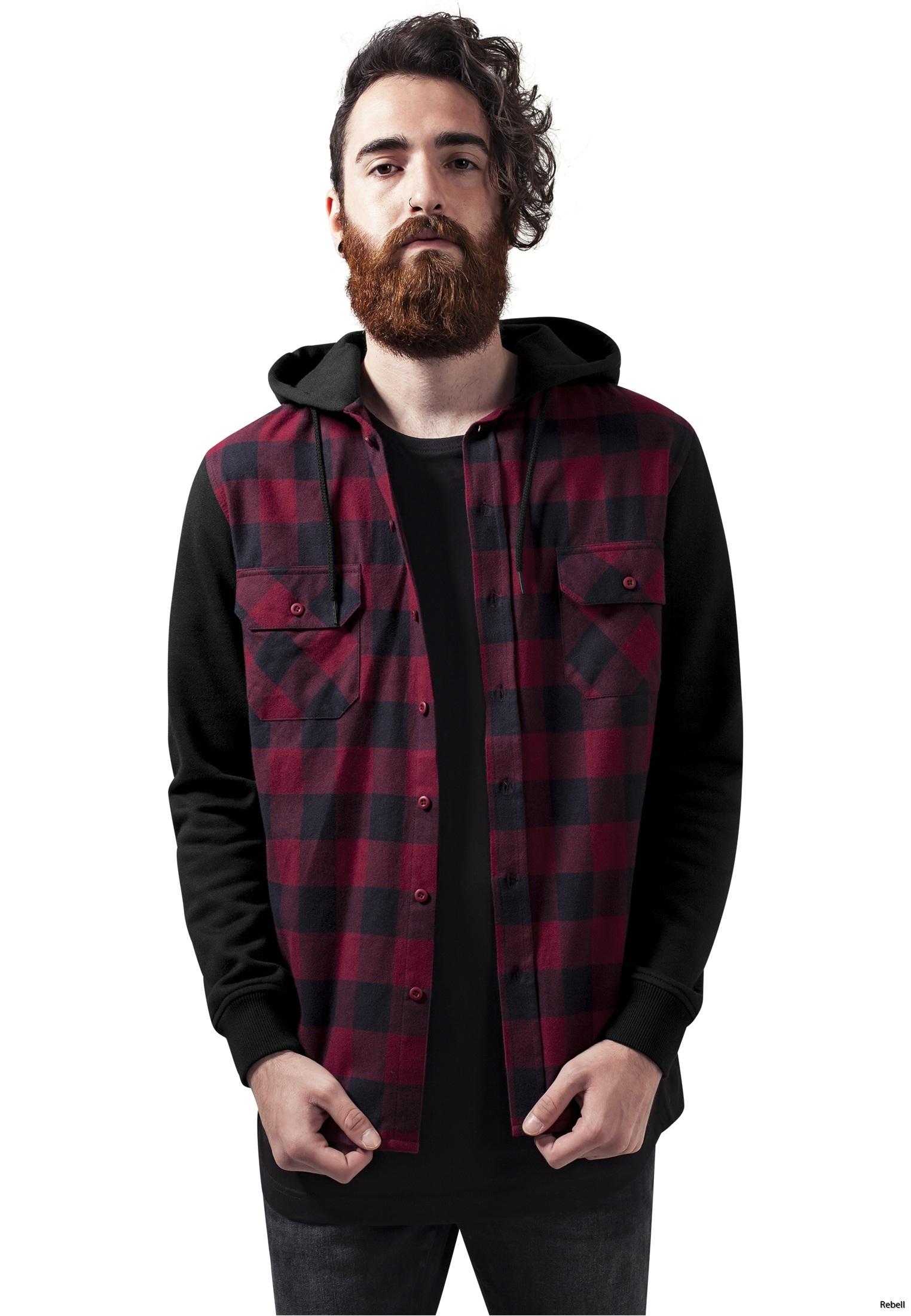 rebell skjorta flanell luvtröja luvskjorta raggare rockabilly biker motorcykel