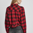 URBAN Classic dam flanellskjorta röd/svart