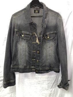 Junk  jeansjacka Lee grå/svart Xl dam