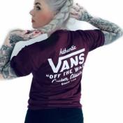 Vans Tshirt maroon holder street unisex