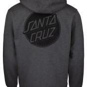 Santa Cruz hoodie contra prick opus grå unisex