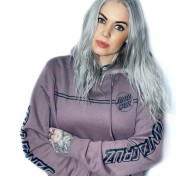 Santa Cruz hoodie contra prick opus gammal rosa unisex