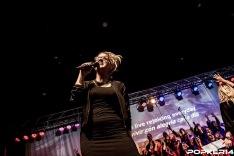 Anna som gästartist på gospelkonsert i Zaragoza, Spanien.