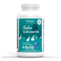 Jigsaw Health - Alaskan Cod Liver Oil 180 kapslar -