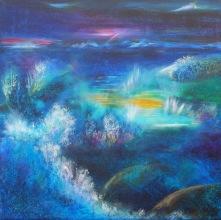 Magisk Natt vid Havet 50x50 cm (såld)
