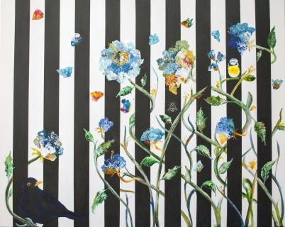 Galler i Fri blå blom 92x73 cm (6200sek)