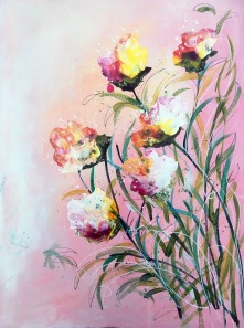 Hoppets blommor 42x56 cm på papper