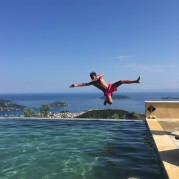 Infinity pool flying